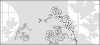 line,drawing,flower,chrysanthemum
