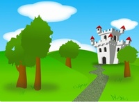 cartoon,castle,remix,fort,fortress,plain,land,landscape,scene,scenery,nature,outdoor,forest,fairy tale,fantasy,clip art,media,how i did it,public domain,image,png,svg,fairy tale,fairy tale,fairy tale,fairy tale