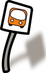 funny,stop,cartoon bus stop,media,clip art,public domain,image,png,svg