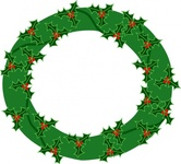 evergreen,wreath,with,large,holly,clip
