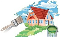painting house,house,house landscape,painting,material