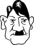 adolf,hitler,cartoon,caricature,man,person,history,politics,germany,famous-people,media,clip art,externalsource,public domain,image,svg