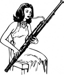 woman,playing,bassoon,people,music,musical instrument,woodwind instrument,line art,black and white,contour,coloring book,outline,musical instrument,woodwind instrument,wikimedia common,psf,musical instrument,woodwind instrument,wikimedia common
