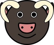 taureau,animal,cartoon,face,smiley,media,clip art,public domain,image,png,svg