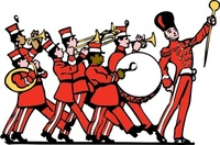 marching,band,people,music,instrument,drum major,cartoon