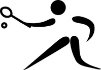 olympic,sport,racquet,pictogram