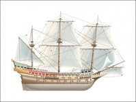 spanish,galeon,transport,ship,watercaft,ark,water,vessel