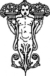 ornament,statue,decoration,figurehead,torso,media,clip art,externalsource,public domain,image,png,svg