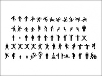 sign,pictograms,fitness,woman,walk