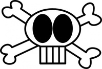 goofy,skull,remix,cartoon,head,funny,black & white