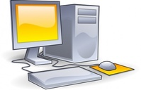 computer,editorial pick,glossy,yellow,desktop,hardware,workstation,media,clip art,public domain,image,png,svg