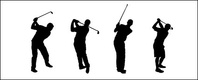 golf,figure,silhouette,vector