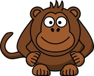 studiofibonacci,cartoon,monkey,remix,mammal,clip art,media,public domain,image,png,svg