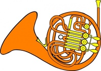 bariton,french,horn