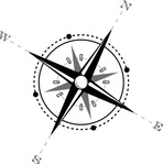 black,white,compass,cartoon,line art,sign,icon,map,media,clip art,how i did it,public domain,image,png,svg