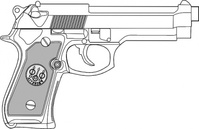pistol,outline,weapon,gun,media,clip art,externalsource,public domain,image,png,svg
