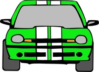 dodge,neon,green,car,transportation,race,mopar,media,clip art,public domain,image,png,svg
