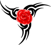 tribal,tattoo,rose,media,clip art,public domain,image,png,svg,nature,comment_problem