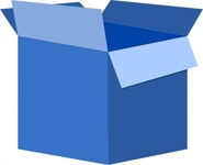 box,paper,package,blue