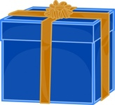 blue,gift,golden,ribbon,present,box,wrapped,wrapping,gold,bow