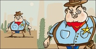 western,cartoon,cowboy,vector,material