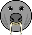 seal,animal,rounded,face,cartoon,smiley,media,clip art,public domain,image,svg,png