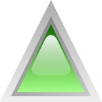 triangular,green,button,glossy,triangle
