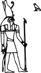 horus,media,clip art,externalsource,public domain,image,png,svg,egypt,god,mythology,pantheon,line art,colouring book
