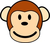 happy,monkey,animal,face,mammel,media,clip art,public domain,image,svg