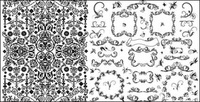 vector lace black,practical,black,white,lace,pattern