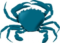 annaleeblysse,blue,crab,remix,nature,sea,creature