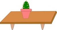 cactus,table