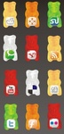 gummy,social,icon,set,icon