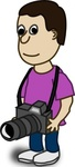 comic,character,camera,funny,people,cartoon,human,guy,media,clip art,public domain,image,png,svg