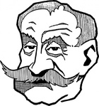 ferdinand,foch,cartoon,caricature,man,person,french,france,military,general,history,famous-people,media,clip art,externalsource,public domain,image,svg