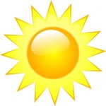 Weather Sunny clip art vector, free vector images - Vector.me