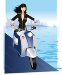 motorcycle,girl