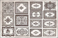 variety,practical,european,style,lace,border,vector,material