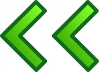 green,left,double,arrow,remix,icon,glossy,set,collection,clip art,media,public domain,image,png,svg