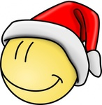 smiley,santa,face,smily,christmas,happy,holiday,colour,cartoon,christmas hat,media,clip art,public domain,image,svg,holiday,holiday,holiday,holiday