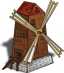 windmill,cartography,map,geography,fantasy,building,wooden,mill,media,clip art,public domain,image,png,svg