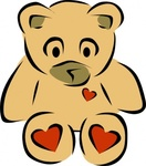 teddy,bear,heart,animal,toy
