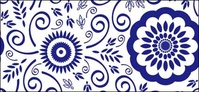 blue,white,pattern