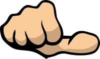 thumb,media,clip art,public domain,image,png,svg,anatomy,body part,hand,fist,finger,okay,gesture,colour,contour,outline