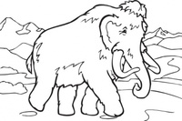 coloring,book,mammoth,cartoon,animal,extinct,mammal,line art,contour,colouring book,media,clip art,externalsource,public domain,image,png,svg