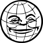 grinning,globe,planet,world,earth,happy,media,clip art,externalsource,public domain,image,png,svg