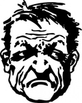 tough,people,person,man,head,face,mean,angry,contour,line art,black & white