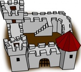 ugly,perspective,cartoony,fort,fortress,stronghold,castle,medieval,cartoon,sketch,simple,building,game,colour,construction,map,cartography,geography,fantasy,rpg