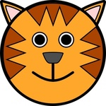 tiger,face,animal,cartoon,smiley,media,clip art,public domain,image,png,svg