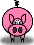 pink,animal,pig,porco,oinc,cartoon,media,clip art,public domain,image,svg